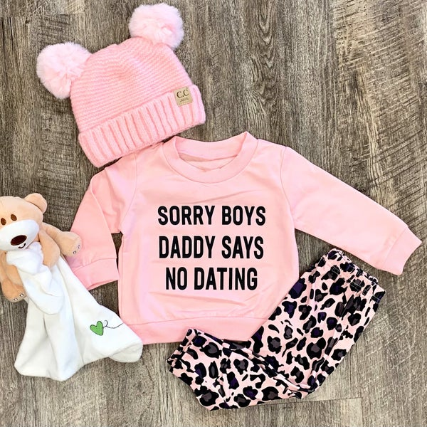 2pc Set - Sorry Boy's Daddy Says No Dating