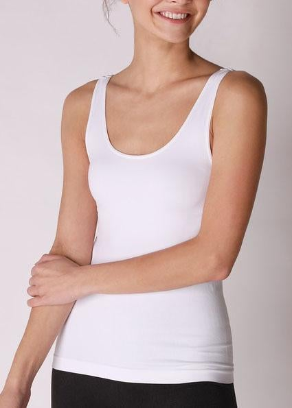 White Seamless Wide Strap Cami For Women *Final Sale*