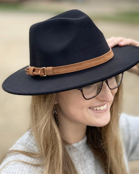 Black Fedora Hat For Women *Final Sale*