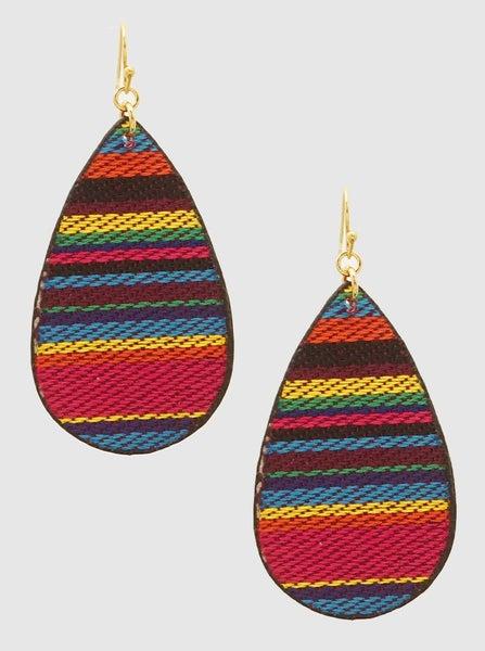 Threaded Teardrop Earrings *Final Sale*