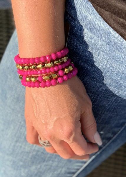 Pretty In Pink Bracelet Stack For Women *Final Sale*