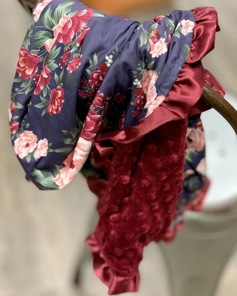 Sweet Floral Cozy Baby Blanket