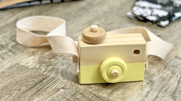 Yellow Wooden Toy Camera *Final Sale*