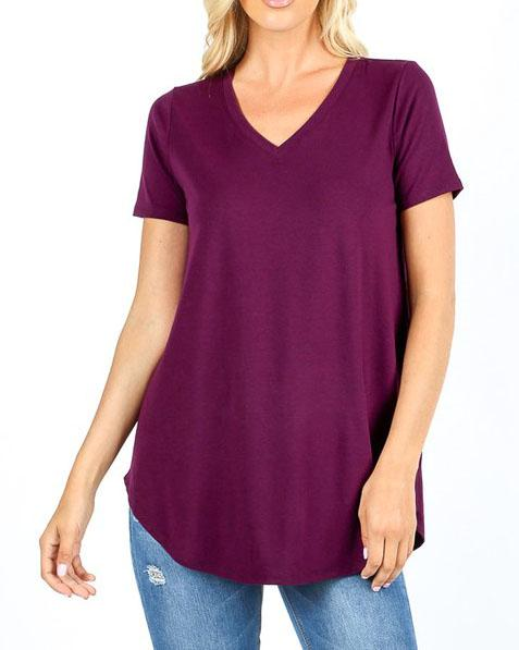 Everyday Plum Essential Top For Women *Final Sale*