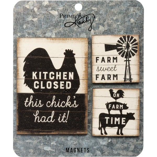 Farm Sweet Farm 3pc Magnet Set