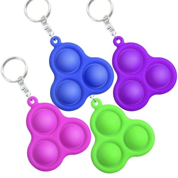 Triple Bubble Popper Fidget Keychain *Final Sale*