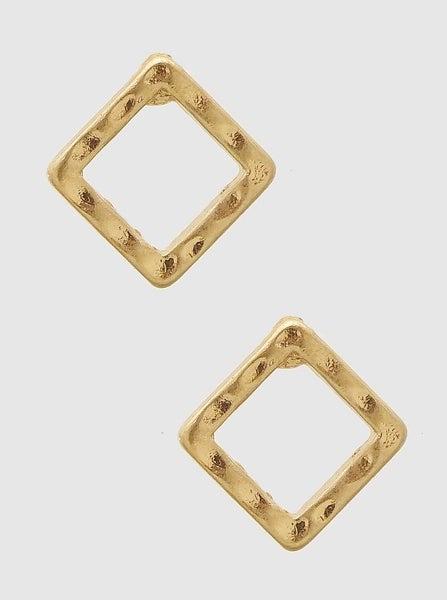 Gold Square Stud Earrings *Final Sale*