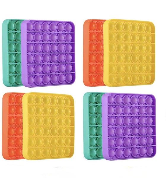 Solid Color Square Fidget Popper Toy *Final Sale*
