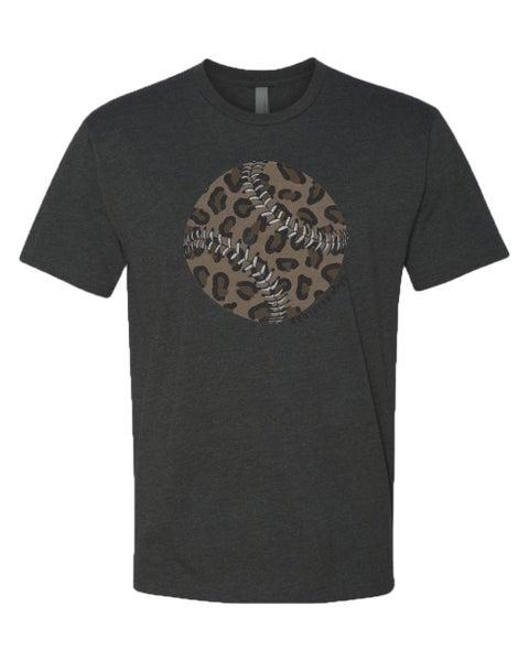 Leopard Baseball Graphic Tee For Women