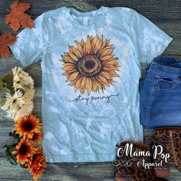 Stay Sunny Bleached Graphic Tee For Women