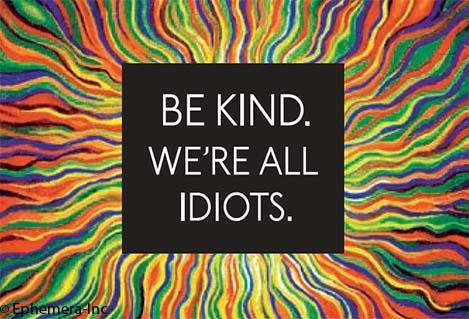 Be Kind We're All Idiots Magnet *Final Sale*