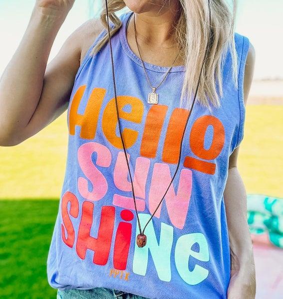 Lavender Hello Sunshine Tank Top For Women