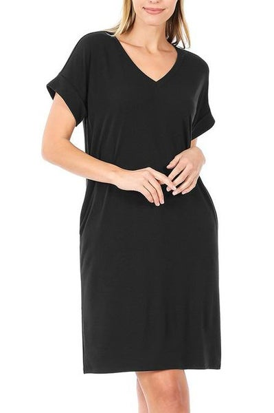 Simple & Easy Black Dress For Women