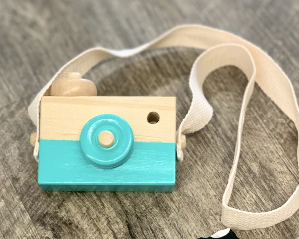 Mint Wooden Toy Camera *Final Sale*