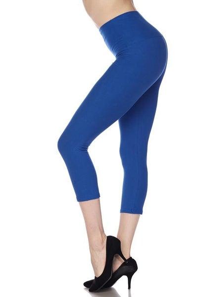 "Royal Blue Essential Capri 1"" Waistband - Women *Final Sale*"