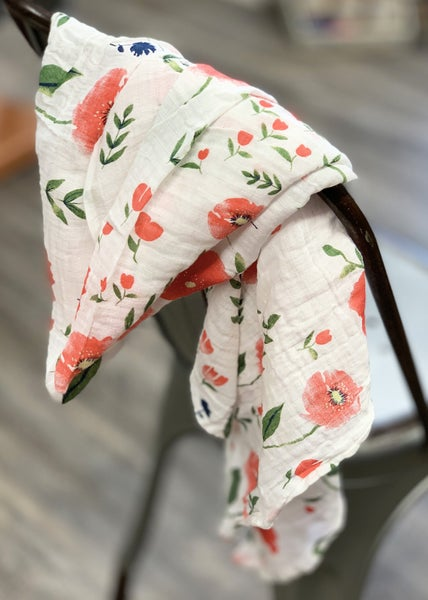 Flower Garden Muslin Baby Blanket *Final Sale*