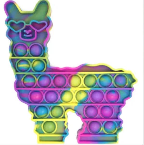Tie Dye Llama Fidget Popper Toy *Final Sale*