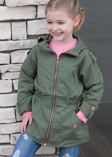 Girls Olive Anorak Jacket *Final Sale*