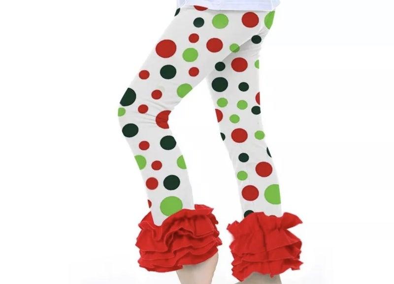 Christmas Ruffle Leggings *Final Sale*