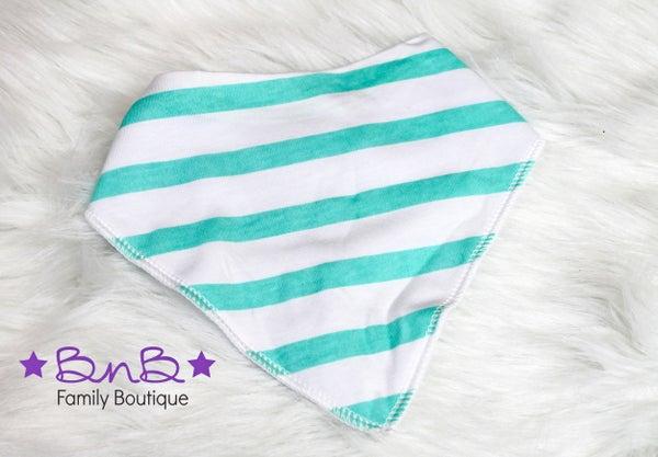 Aqua Stripe Bandana Bib *Final Sale*