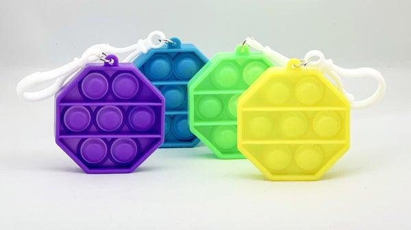 Octagon Clip & Go Fidget Popper Toy *Final Sale*