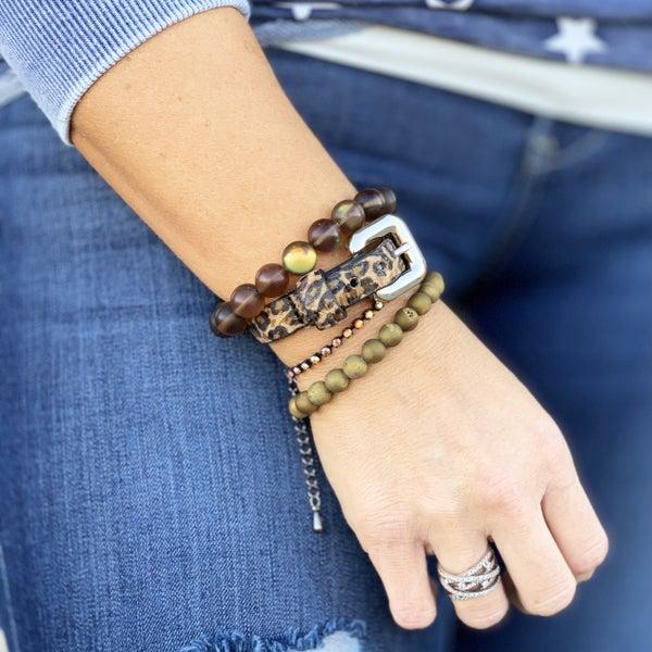 Animal Print Bracelet Stack For Women