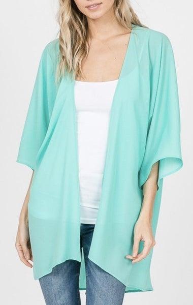 Aqua Kimono For Women