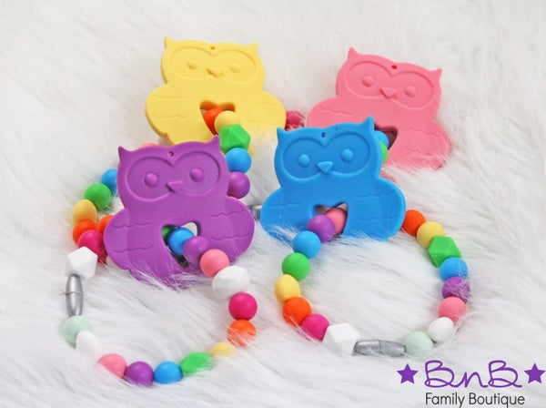 Owl Teething Bracelet *Final Sale*