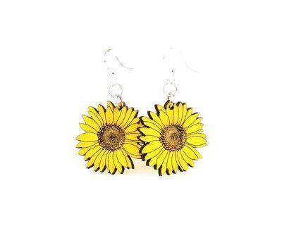 Detailed Sunflower Earrings *Final Sale*