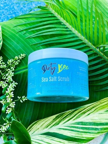 Dirty Bee Turquoise & Lace Sea Salt Scrub *Final Sale*