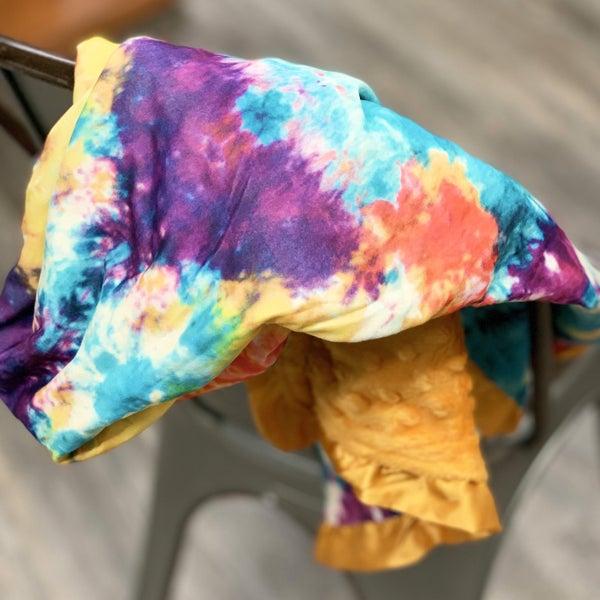 Tie Dye Cozy Baby Blanket