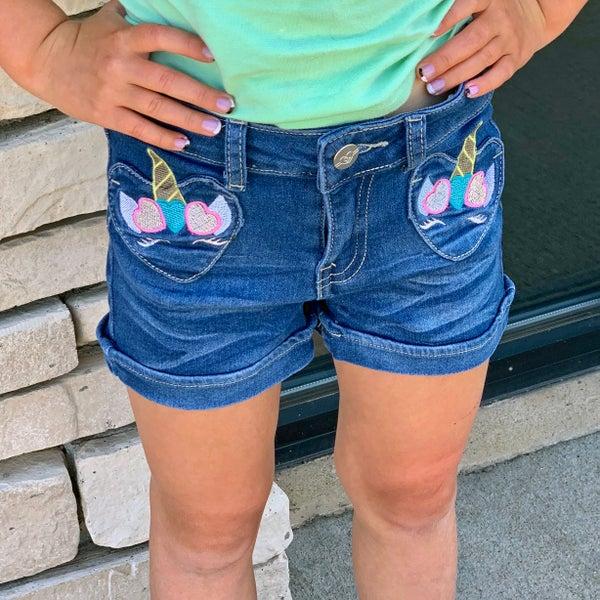 Unicorn Shorts For Girls