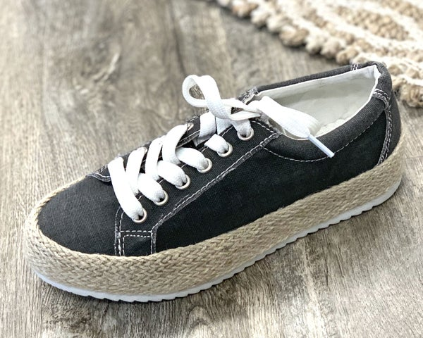 Very G Black Canvas Espadrille Sneakers