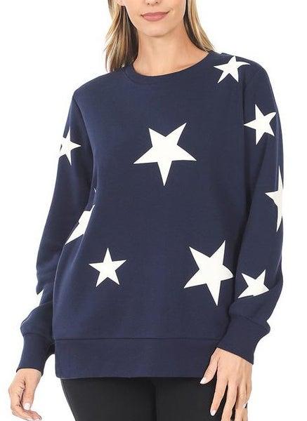 Star Crew Sweatshirt For Women