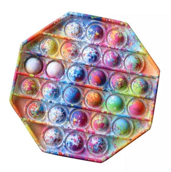 Paint Splatter Octagon Fidget Popper *Final Sale*