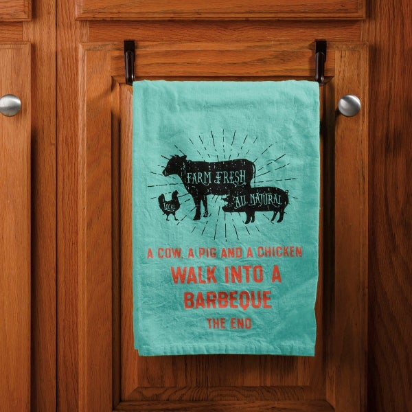 Walk Into A Barbeque The End Dish Towel *Final Sale*