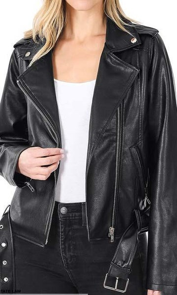 Black Rocker Jacket For Women