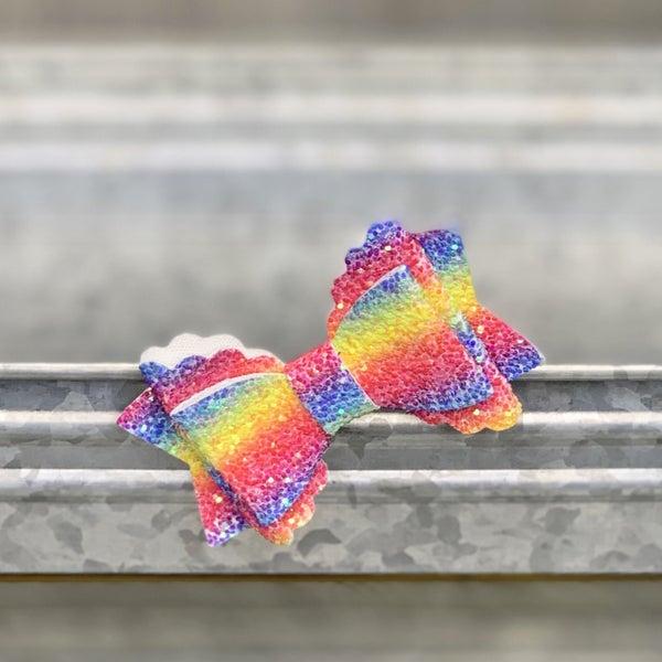 Rainbow Glitter Bow *Final Sale*