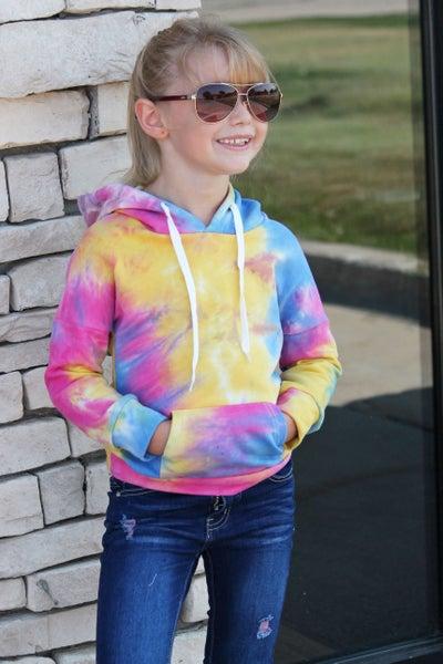 Sunshine Tie Dye Hoodie For Girls
