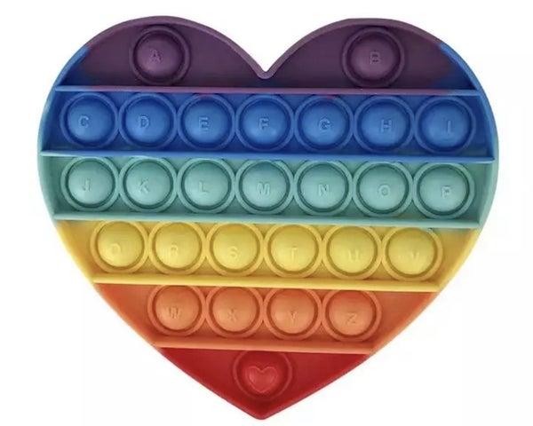 Rainbow Heart Fidget Popper *Final Sale*
