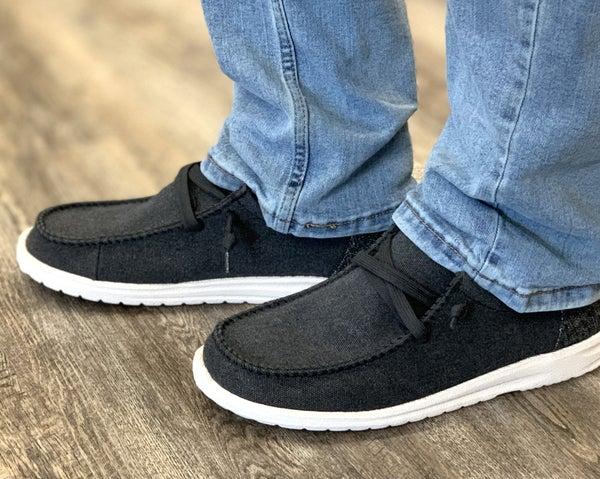 Mr. J: David Black Shoe For Men
