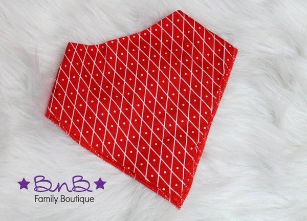 Red Diamond Bandana Bib