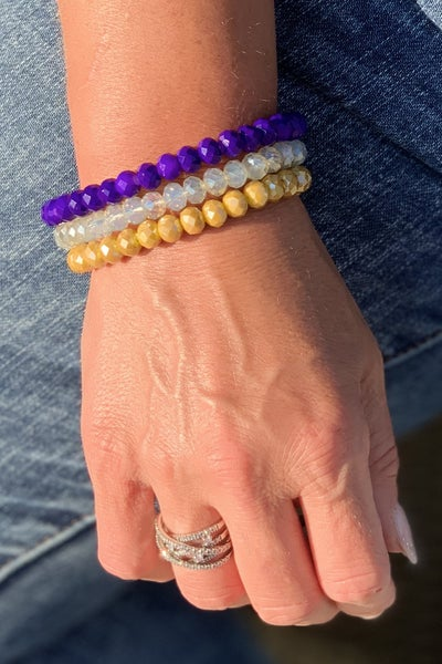 Purple & Gold Stack For Women *Final Sale*