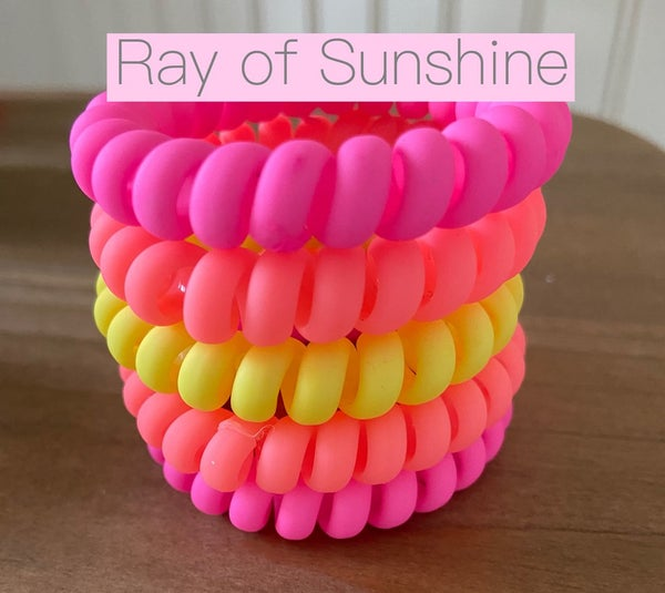 Ray Of Sunshine Hair Tie Coils *Final Sale*