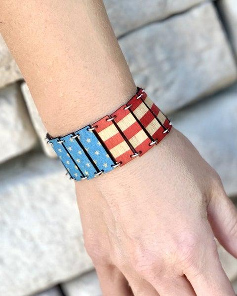 Vintage American Flag Bracelet *Final Sale*