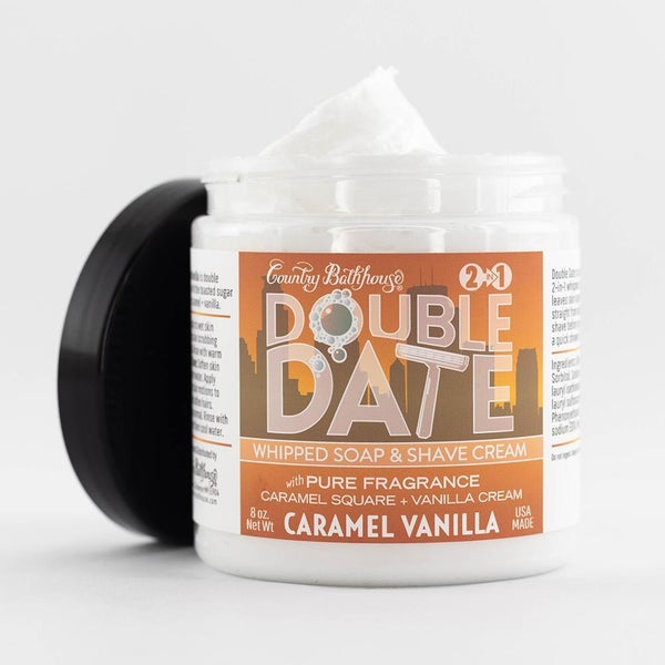 Caramel Vanilla Whipped Soap & Shave Cream By Country Bathhouse *Final Sale*