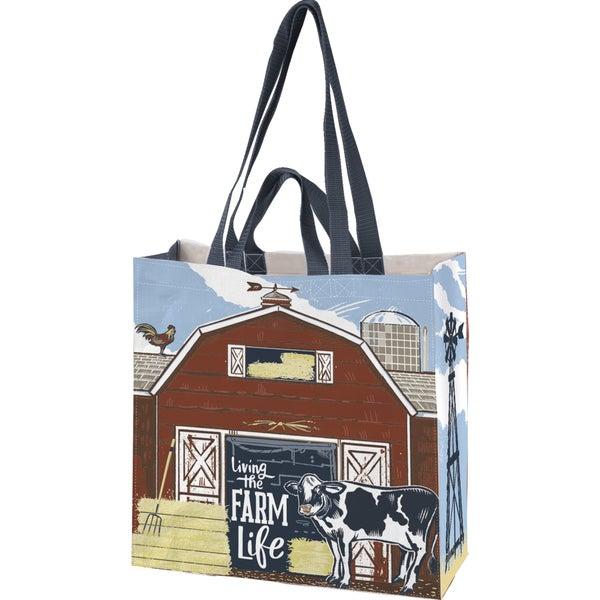 Living The Farm Life Market Tote Bag *Final Sale*
