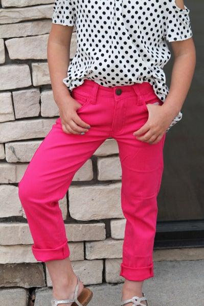 Fuchsia Denim Jean For Girls *Final Sale*
