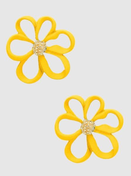 Yellow Floral Stud Earrings *Final Sale*