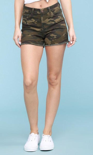 Judy Blue Camo Cut Off Shorts For Women
